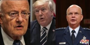Security chiefs and Trump